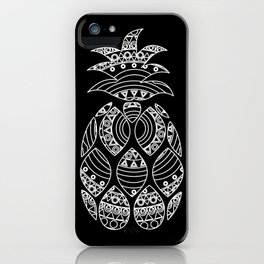 Ornate pineapple - inverted iPhone Case