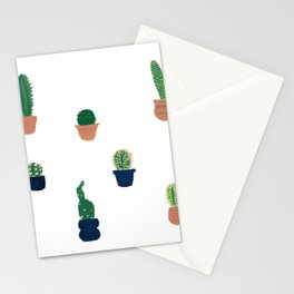 Cacti and bowls Stationery Cards
