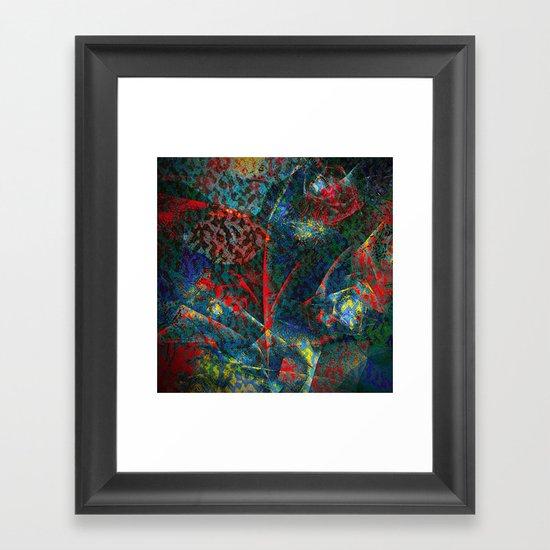 Fractal Flower Framed Art Print