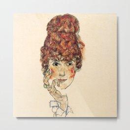 "Egon Schiele ""Portrait of Edith Schiele"" Metal Print"
