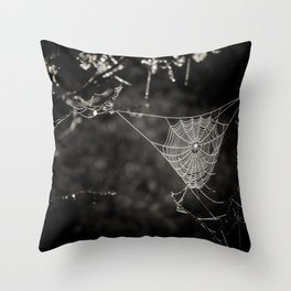 SPIDERWEB IN TREE Throw Pillow
