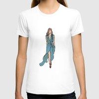 dress T-shirts featuring Sea Dress by Fatima khayyat