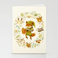wind Stationery Cards featuring The Legend of Zelda: Mammal's Mask by Teagan White