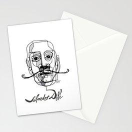 Sketch Portrait of Salvador Dali Stationery Cards