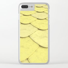 Pattern of yellow rounded roof tiles Clear iPhone Case