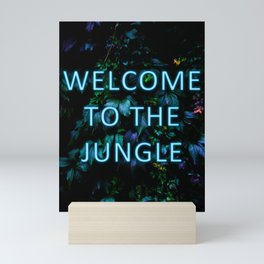 Welcome to the Jungle - Neon Typography Mini Art Print
