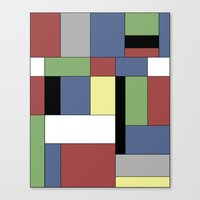 mondrian Canvas Prints featuring Mondrian #5 by Ron Trickett