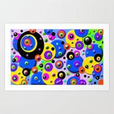 Retro colorful Style Art Print