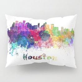 Houston skyline in watercolor Pillow Sham