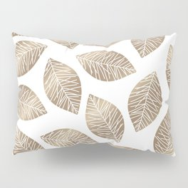 Sunshine Leaves in Taupe Pillow Sham