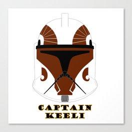 Helmet clone trooper Captain Keeli Canvas Print