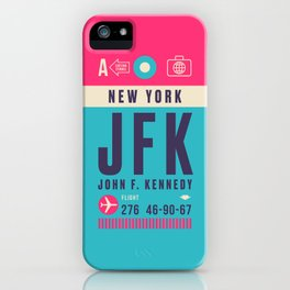 Retro Airline Luggage Tag - JFK New York iPhone Case