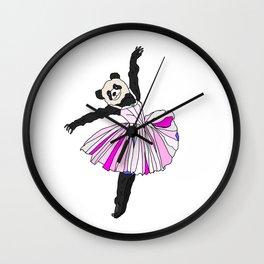 Panda Bear Ballerina Tutu Wall Clock