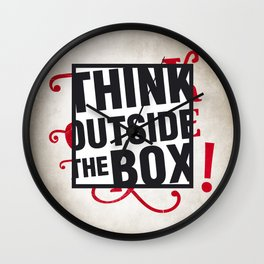 Think outside the BOX!  Wall Clock