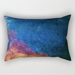 Blackened Tarnished Copper rustic decor Rectangular Pillow