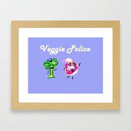 Veggie Police Framed Art Print