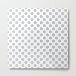 Light Grey Polka Dots Pattern Metal Print