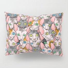 diverse sphynx cat allover print Pillow Sham