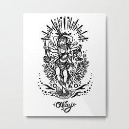 West Kali - Dark Metal Print