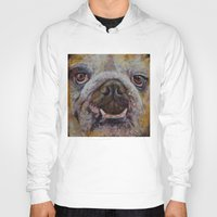 bulldog Hoodies featuring Bulldog by Michael Creese
