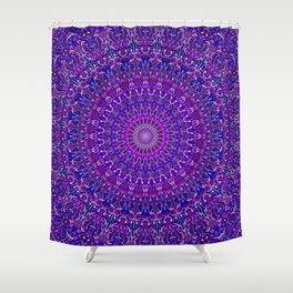 Lace Mandala in Purple and Blue Shower Curtain