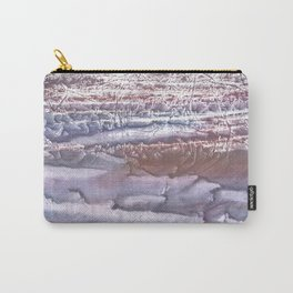 Violet brown hand-drawn wash drawing Carry-All Pouch
