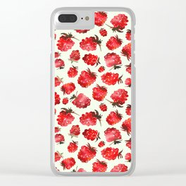 Raspberry vibes Clear iPhone Case