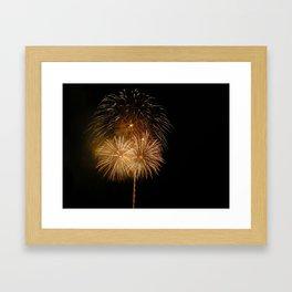 Firework show Framed Art Print