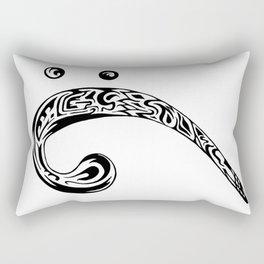 Tribal Bass Clef Rectangular Pillow