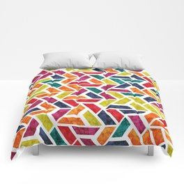 Seamless Colorful Geometric Pattern XII Comforters