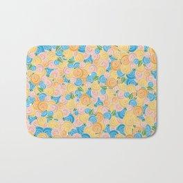Pastel Floral Bath Mat