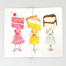 Cake Head Pin-Ups Throw Blanket