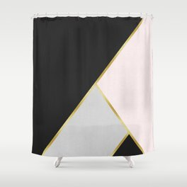 Art with gold V Shower Curtain