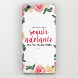 Seguir Adelante {Flores en Acuarela} iPhone Skin