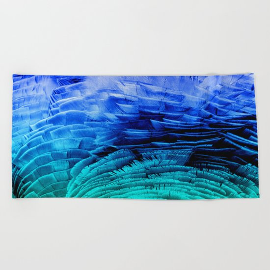 RUFFLED BLUE Beach Towel