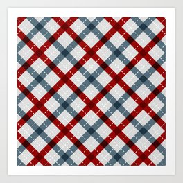 Colorful Geometric Strips Pattern - Kitchen Napkin Style Art Print