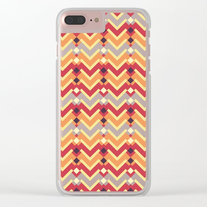 Fractal mountains - salad Clear iPhone Case