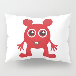 Red Smiley Man Pillow Sham