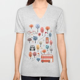 London transport Unisex V-Neck