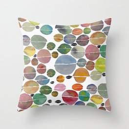 Multi-colored coffee beans Throw Pillow