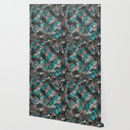 Bubblicious - Teal Pink & Taupe Palette Wallpaper