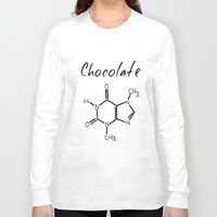chocolate Long Sleeve T-shirts featuring Chocolate by Niña de cardamomo