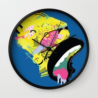 homer Wall Clocks featuring Homer 1. by Huxley Chin