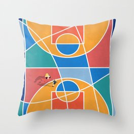 Shooting Hoops Street Basketball From Above  Throw Pillow