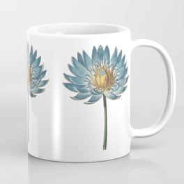 Blue Egyptian water lily pattern Coffee Mug