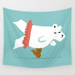 You Lift Me Up - Polar bear doing ballet Wall Tapestry