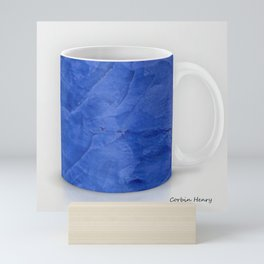 Deep Blue Marble Coffee Mug Print Mini Art Print