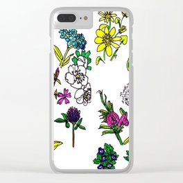 Scottish Summer Wildflowers Clear iPhone Case
