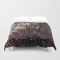 numbers Duvet Covers featuring NUMBERS by Jeff Larson