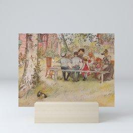 Carl Larsson Breakfast Under The Big Birch Mini Art Print